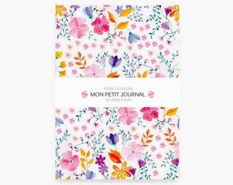 Notebook fleurs, A6, cahier, carnet, carnet de note, petit cahier, carnet ligné,liberty, cadeau d'anniversaire, papeterie fleurie, noël