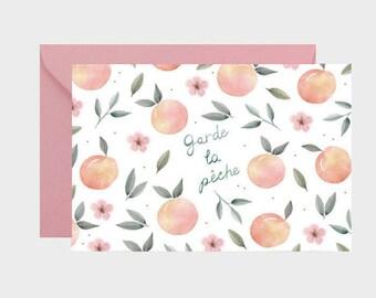 Carte de vœux, carte message,garde la pêche, amour, carte postale, rétablissement enveloppe, papeterie, livraison gratuite france