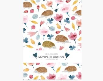 Notebook hérisson, A6, cahier, carnet, carnet de note, petit cahier, carnet ligné, cadeau d'anniversaire, papeterie fleurie, liberty