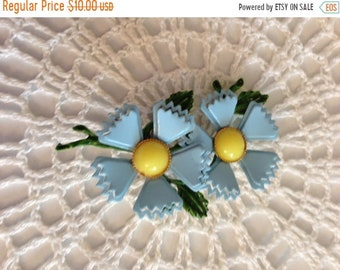 Summer Sale Vintage Blue, Yellow and Green Brooch