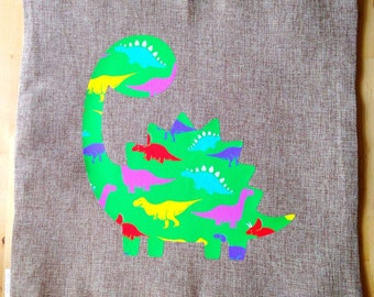 Adorable Handmade Dinosaur Pillow Cover - FREE SHIPPING and WASHABLE!