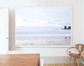 Photograph,  Landscape, Beach, Pastel, White, Brown, Isle of Lewis No4, Scotland, Home decor, Wall art, Home, Minimal, Print, Photo, Art