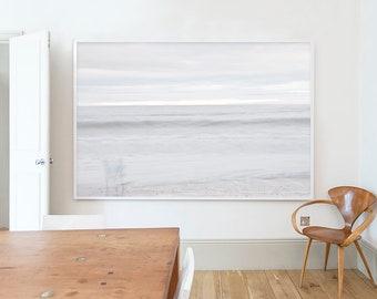 Kids, Black Rock Beach, Widemouth Bay,  Landscape, Beach, Pastel, White, Brown, Cornwall, Home decor, Wall art, Home, Minimal, Print, Art