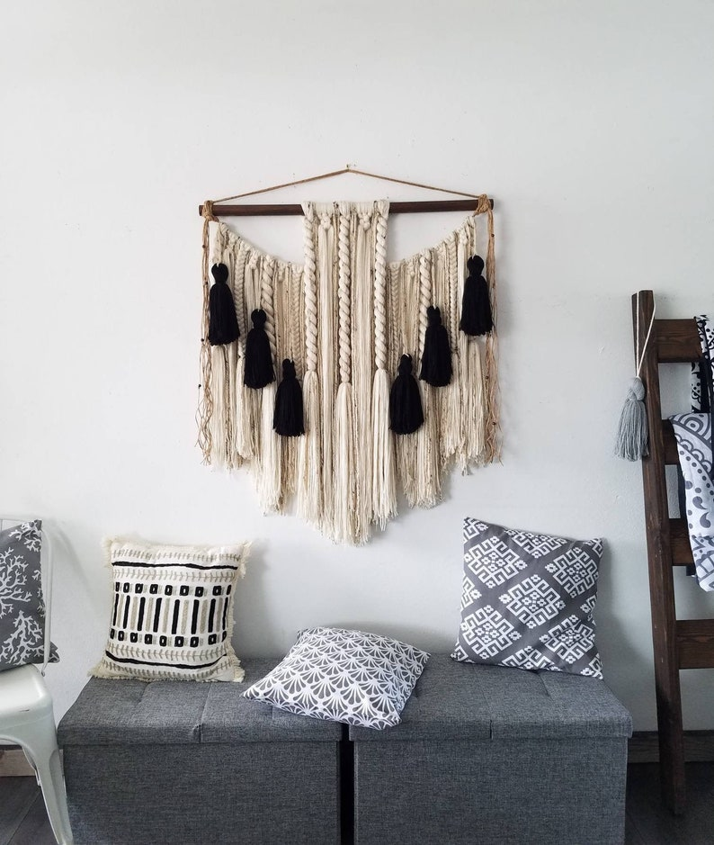 Large macramé wall hanging/ large woven wall hanging /Yarn image 0