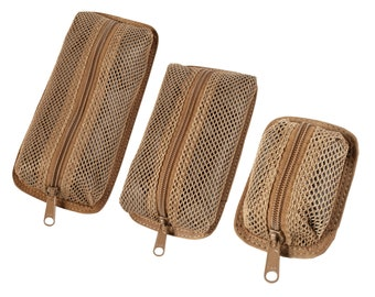 Detachable Mesh Pouches, 3 sizes available (Compatible with our Tactical Notebook Covers)
