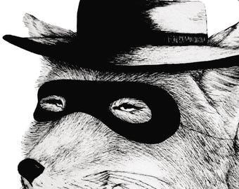 Tibetan Bandit Fox - Print