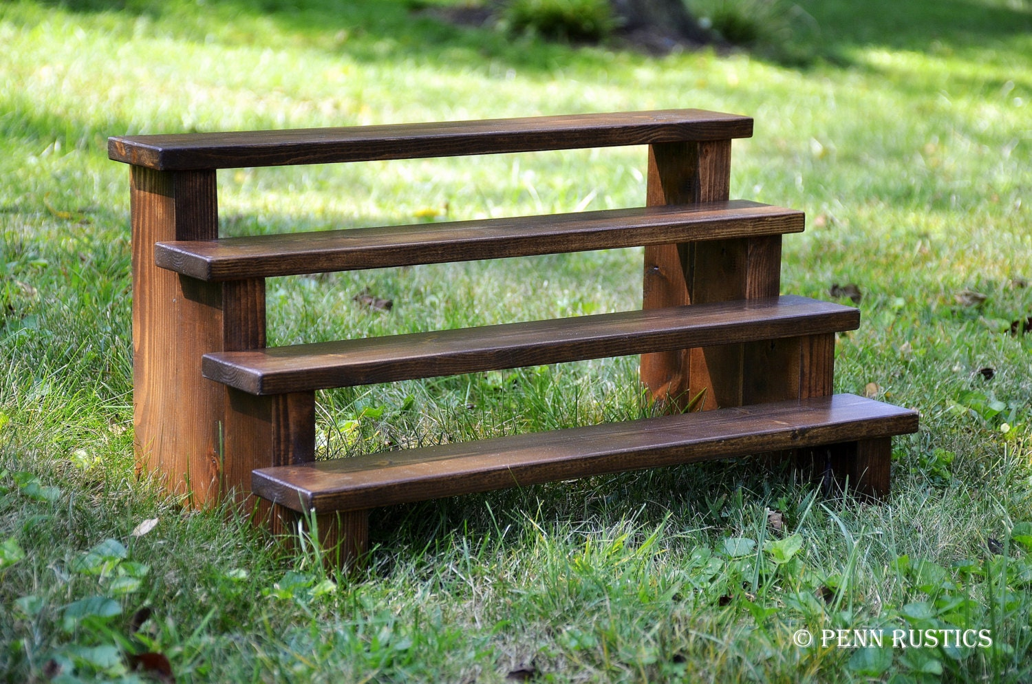 Cupcake Stand 4 Tiered Rustic Wooden Display Stand Etsy