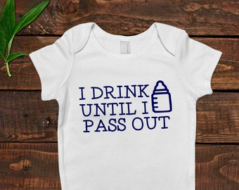 Funny Baby Boy Shirt - Newborn Baby Boy Gift - New Baby Boy Blue Outfit
