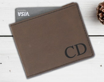 Mens Leather Wallet - Custom Leather Wallet Gift - Personalized Mens Wallet