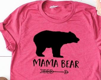 Mama Bear Shirt - Arrow Graphic Tee Gift for Mom