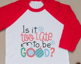 Funny christmas shirt kids, Kids Christmas Tshirt, funny raglan kids christmas shirt, boys christmas shirt, girl christmas shirt