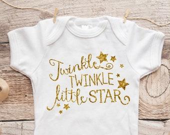 d57b4e3e Gold Baby Bodysuit - Newborn Baby Gift - Twinkle Twinkle Little Star