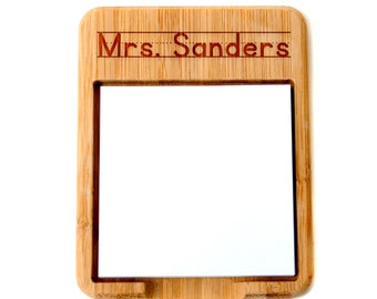 Personalized Teacher Gift - Bamboo Sticky Note Holder -  Gift for Teacher