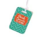Custom Bag Tag - Monogram Backpack Name Tag - Personalized Diaper Bag Tag -  Luggage Tag - Monogram Luggage Bag Tag