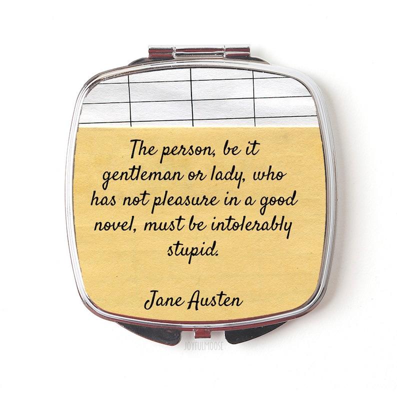 Jane Austen Compact Mirror  Jane Austen Gift  Jane Austen image 0