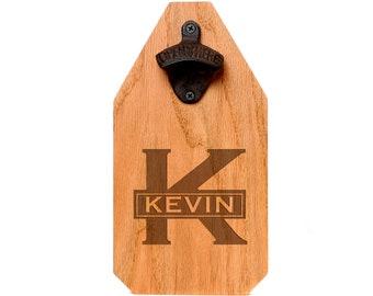 Groomsman Gift, Personalized Bottle Opener Wood Sign, Custom Handcrafted Rustic Groomsmen Gift