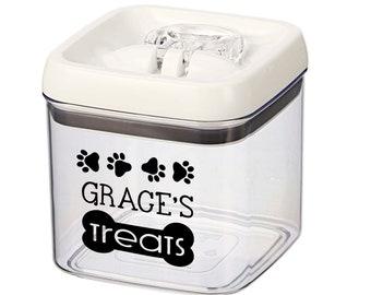dog treats, dog treat jar, custom dog treat canister, personalized dog gift, dog lover gift