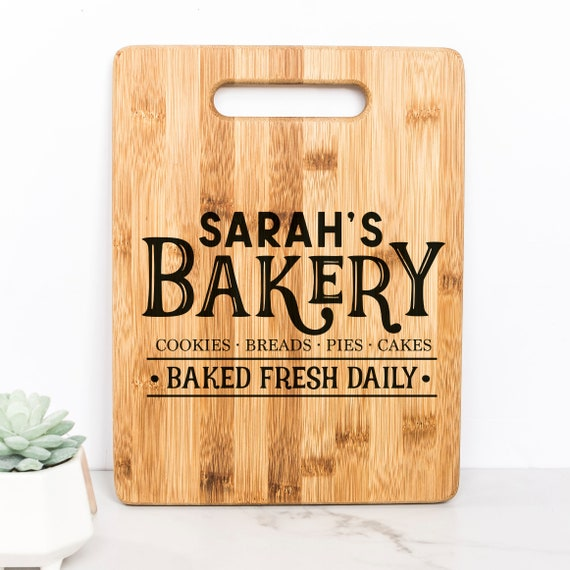 Custom Bakery Cutting Board gift for baker Personalized