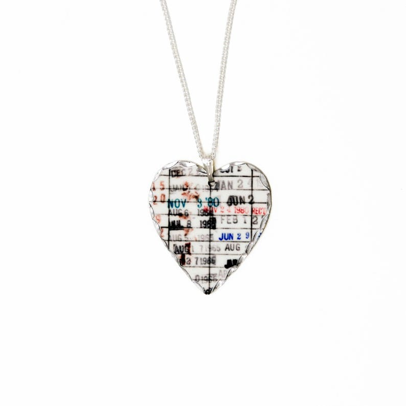 Heart Necklace for Women  Gifts for Book Readers  Library image 0