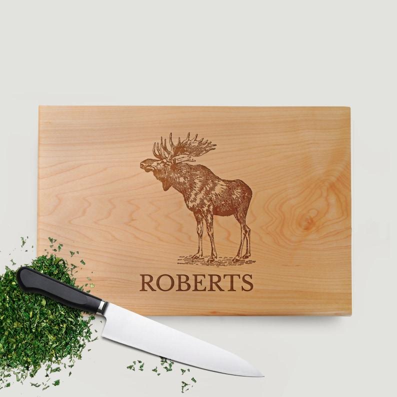 Moose Cutting Board Walnut or Maple image 0