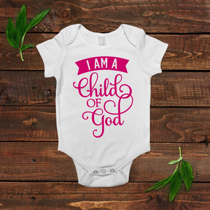 Christian Baby Girl Outfit  I am a child of God  Baby Shower image 0