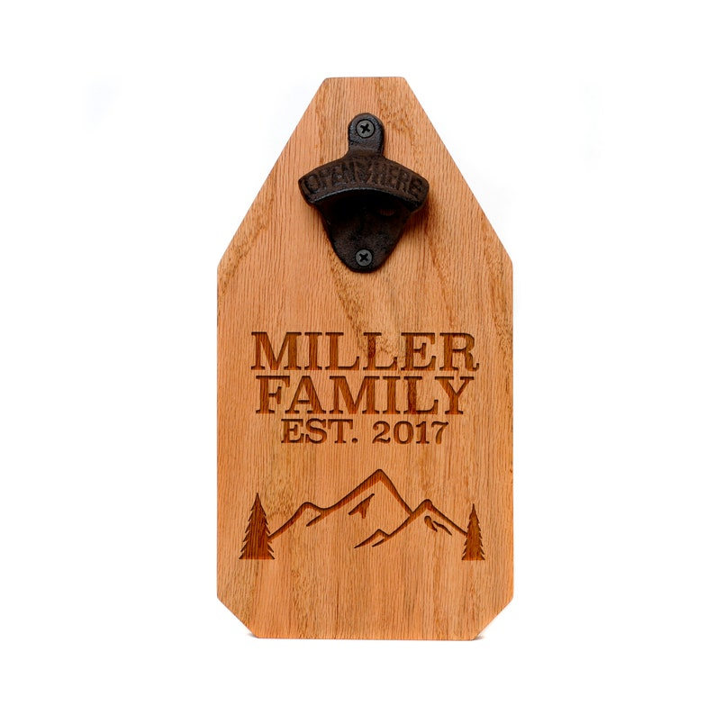 Welcome Wood Sign  Personalized Beer Bottle Opener Wood Sign image 1