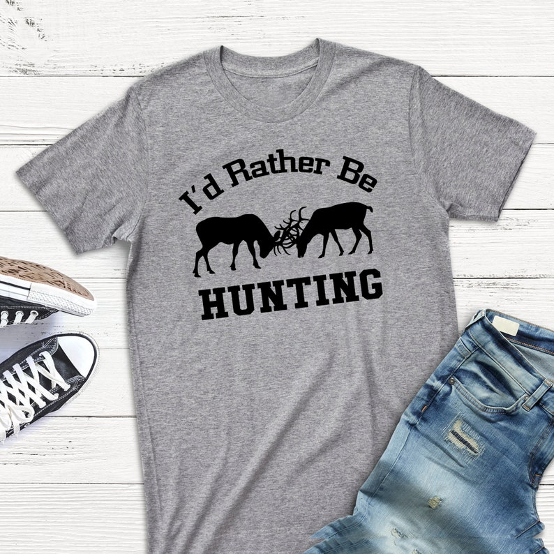 Hunting Gift for Men  I'd Rather Be Hunting Mens Tshirt  image 0