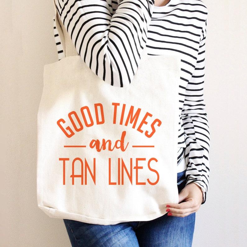 Beach Tote Canvas Beach Tote Bag beach tote bag Good times image 0