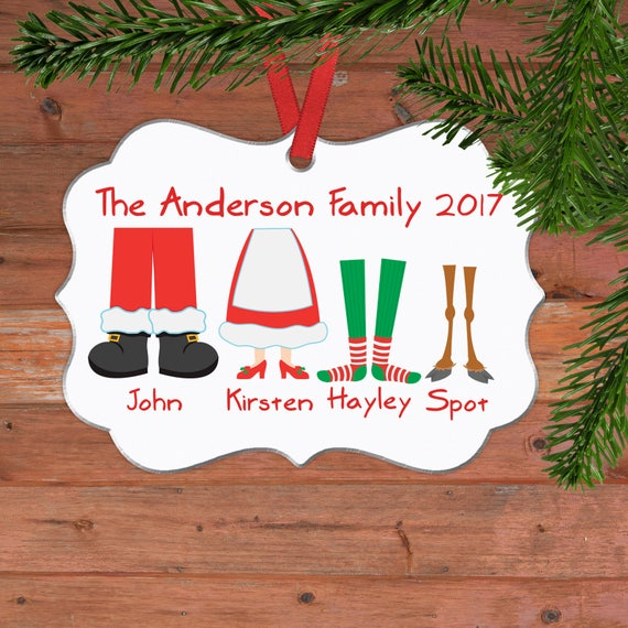 Black Friday Christmas Decorations.Personalized Family Christmas Ornament Family Christmas Gift Ideas Black Friday Elf Feet Customized Christmas Oval Ornament