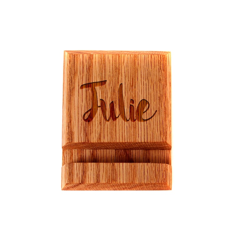 Wood iPhone Stand  Wood iPhone Holder image 0