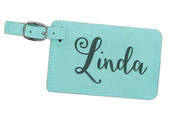 Personalized Engraved Luggage Tag Gift for Traveler