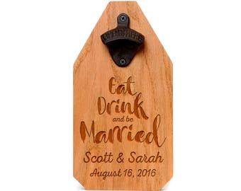 Wedding Gift Personalized Sign Wood Bottle Opener