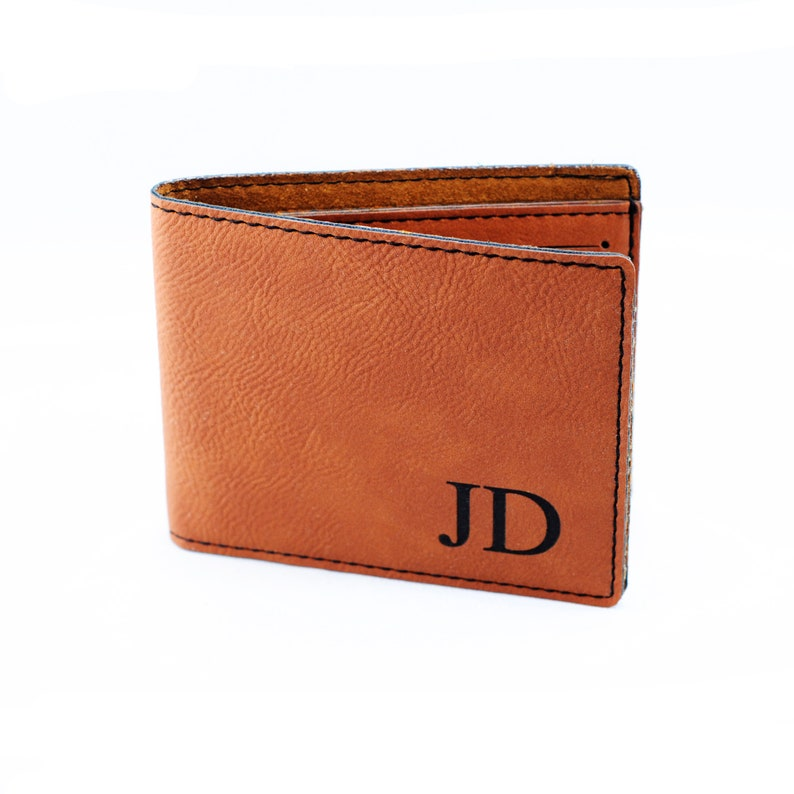 f27f5b86d2cd Groomsmen Gifts Monogram Leather Wallet Personalized Mens