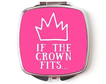 Princess Compact Mirror - Disney Princess Gift - Compact Mirror - Queen Pink Crown