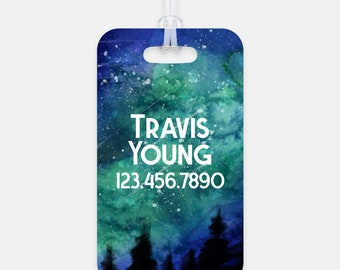 Personalized luggage tag, Custom Bag Tag, Galaxy Space Backpack Name Tag, Suitcase ID Tag