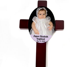 Baptism Cross - Custom Baptism Gift  - Baby Christening Personalized Cross - Christening Gift - Baby Gift