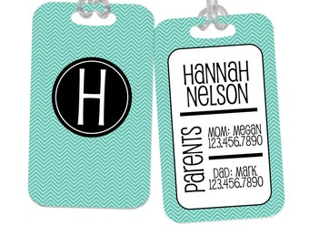 Diaper Bag Tag - Custom Personalized Baby Gift ID Name Label