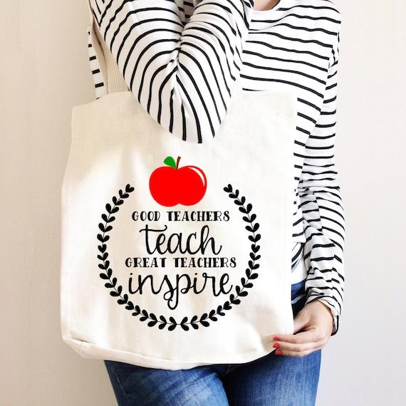 e7398905d83 Teacher Tote Bag Gift for Teacher Canvas Bag   Etsy