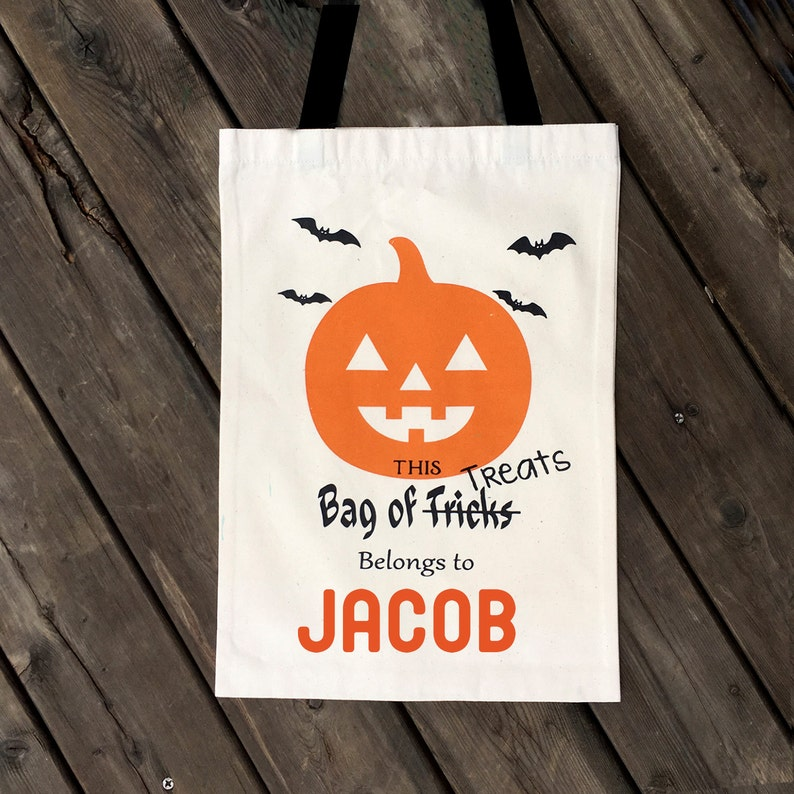 trick or treat bag  personalized halloween candy bag image 0