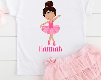 Ballerina Tshirt for girls, gifts for girls, toddler Youth Kids Tees, Ballet gifts