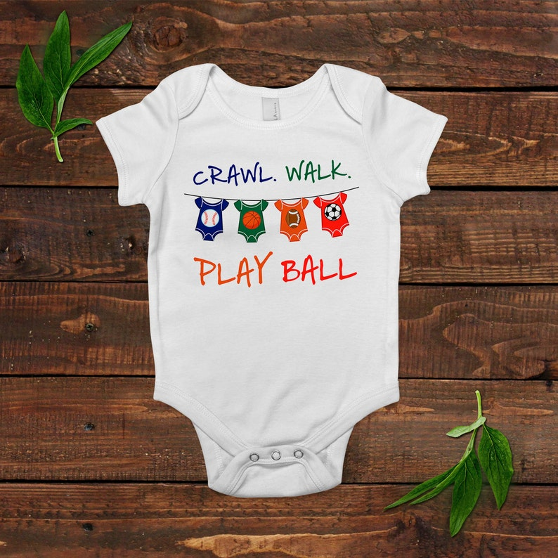 Baby Boy Shirt  Football Soccer Basketball Baseball  Baby image 0