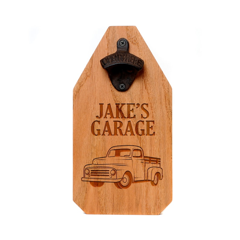 Personalized Garage Sign  Father's Day Custom Wood Sign  image 0