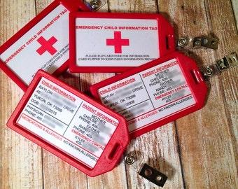 Emergency Child Information Tag
