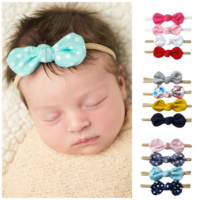 SET of 4 Nylon baby headbands baby headbands nylon image 0