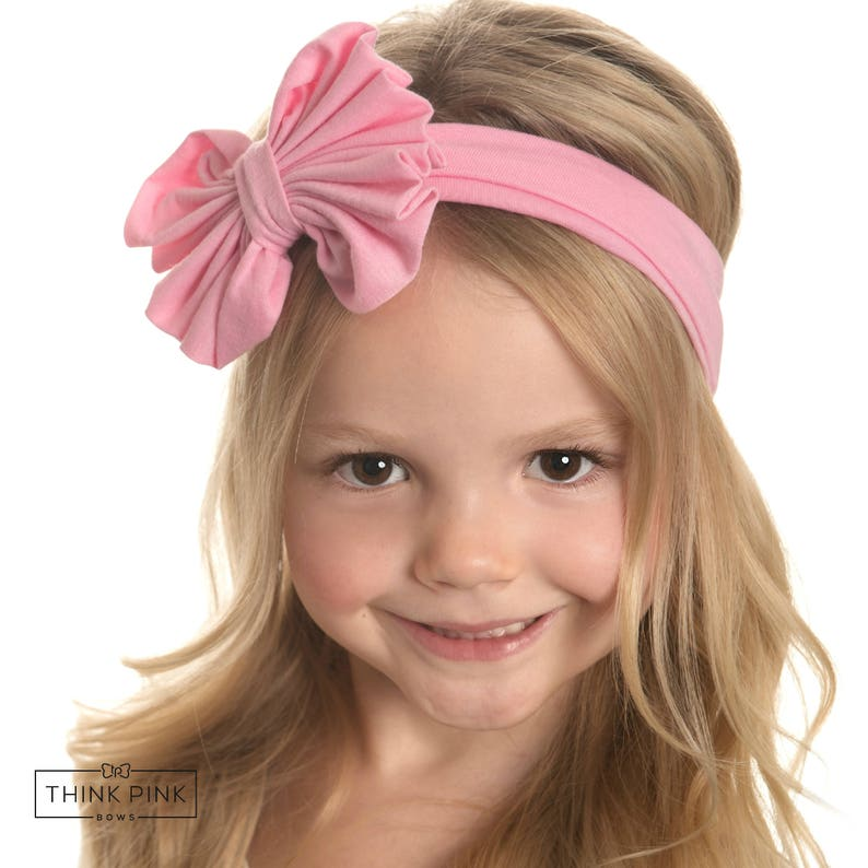 fa7aa1b76 Baby Headbands CHOOSE COLOR Girls Head wraps Messy Bow Baby