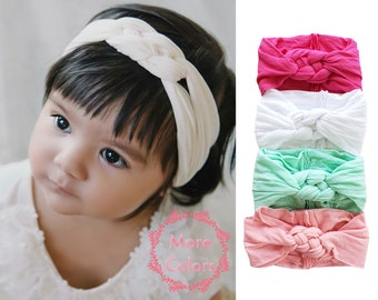 Baby Headbands, Nylon Headwraps, One size fits all wide nylon headbands, Nylon head wrap Baby headband, nylon headband, Infant toddler Bows