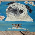 Hand-painted Wooden Keepsake or Memorial Urn -Donated Item to Benefit Pug Hollow Sanctuary