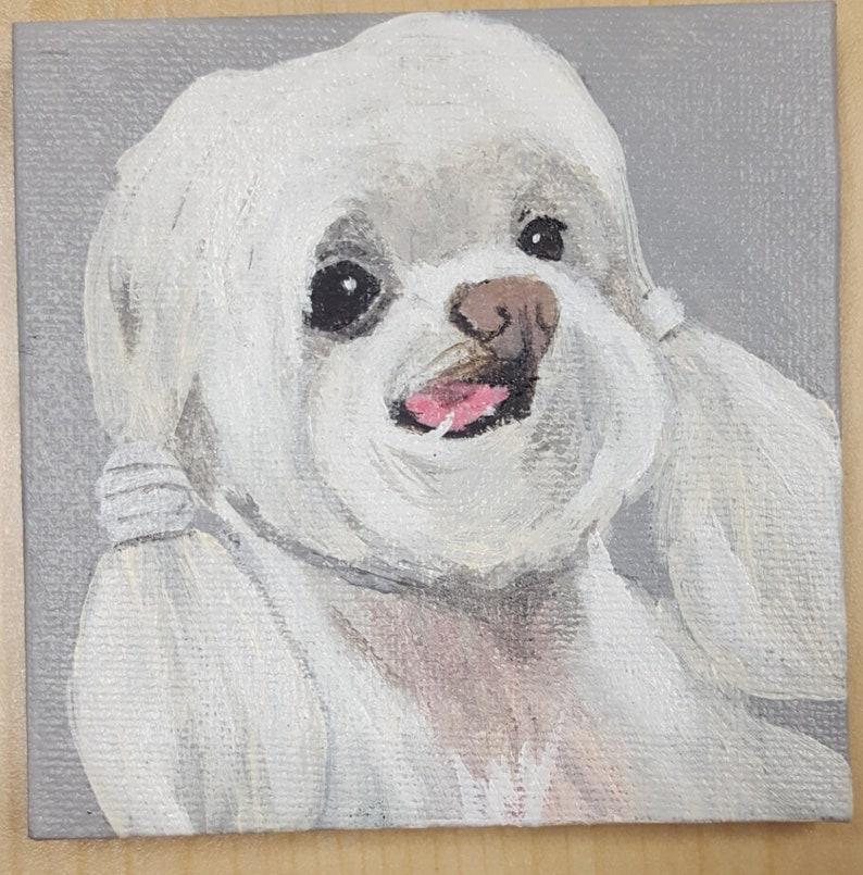 Supports Pug Hollow Sanctuary Custom Pet Portrait a non-profit dog hospice