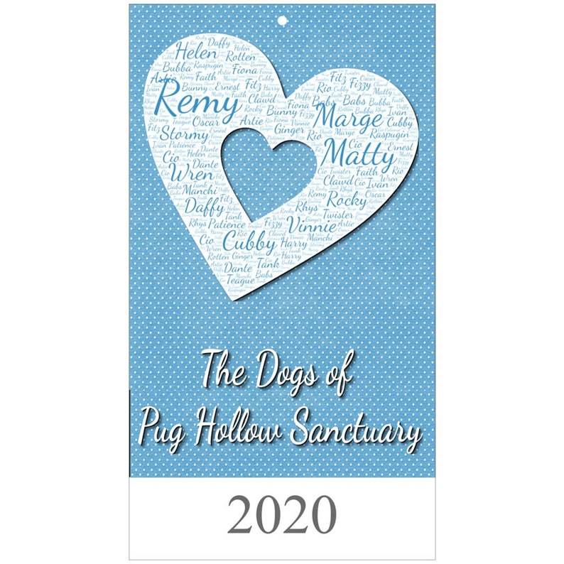 The Dogs of Pug Hollow Sanctuary Wall Calendar image 0