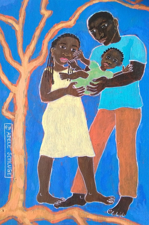 999aec9c42a Family and Bright Tree black father mother and child